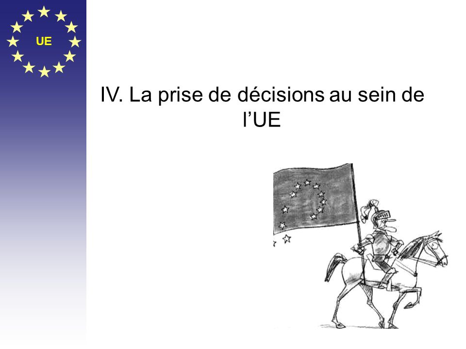 IV. La prise de décisions au sein de l'UE