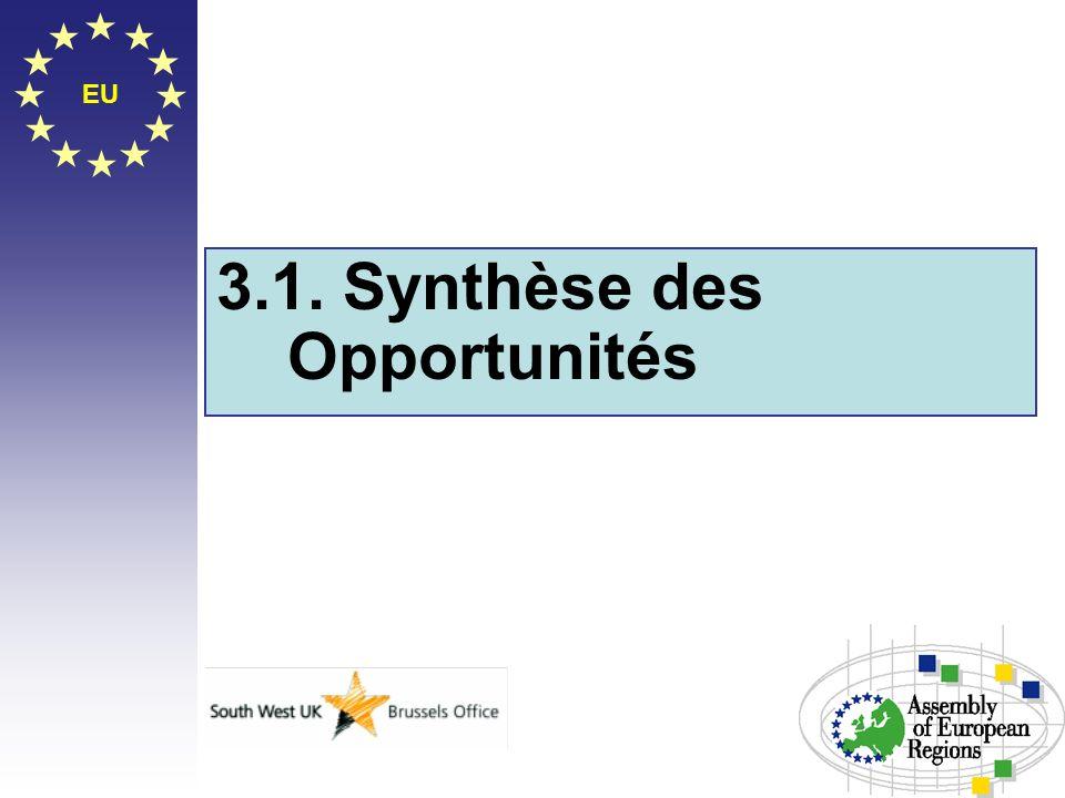3.1. Synthèse des Opportunités