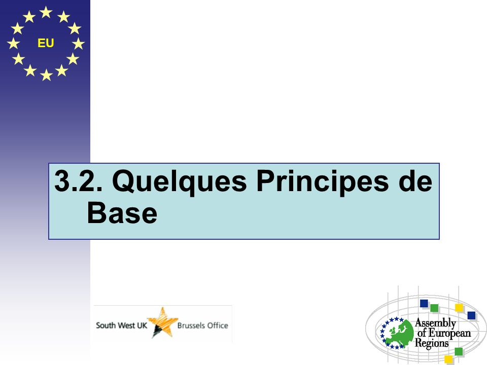 3.2. Quelques Principes de Base