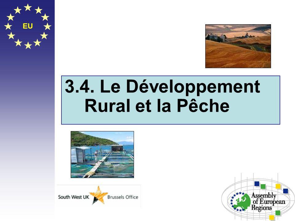 3.4. Le Développement Rural et la Pêche