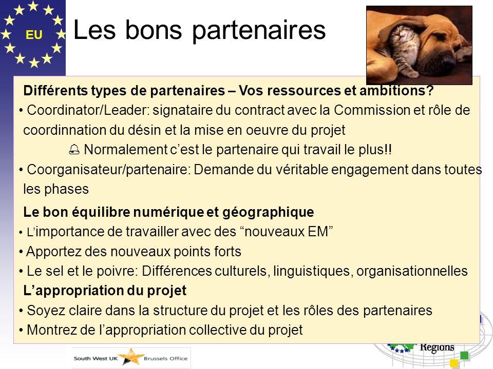 Les bons partenaires EU. Différents types de partenaires – Vos ressources et ambitions