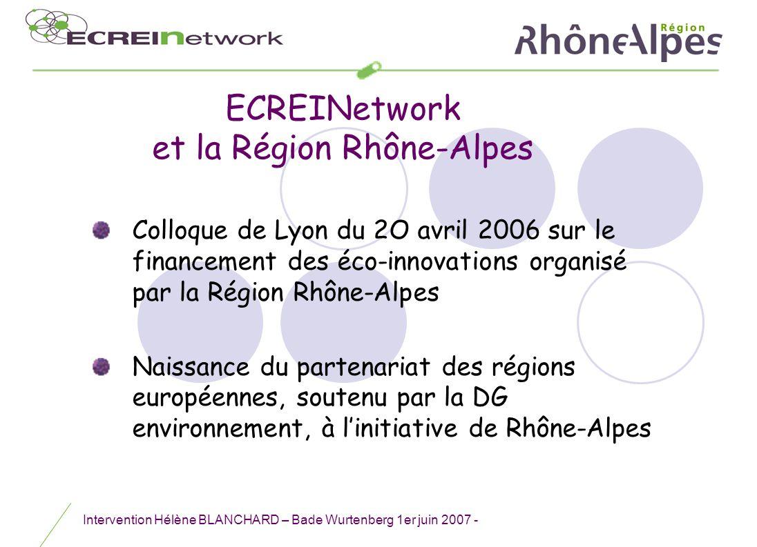 ECREINetwork et la Région Rhône-Alpes