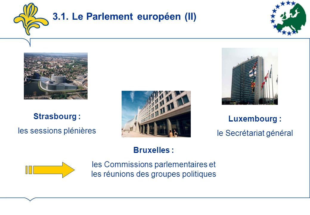 3.1. Le Parlement européen (II)
