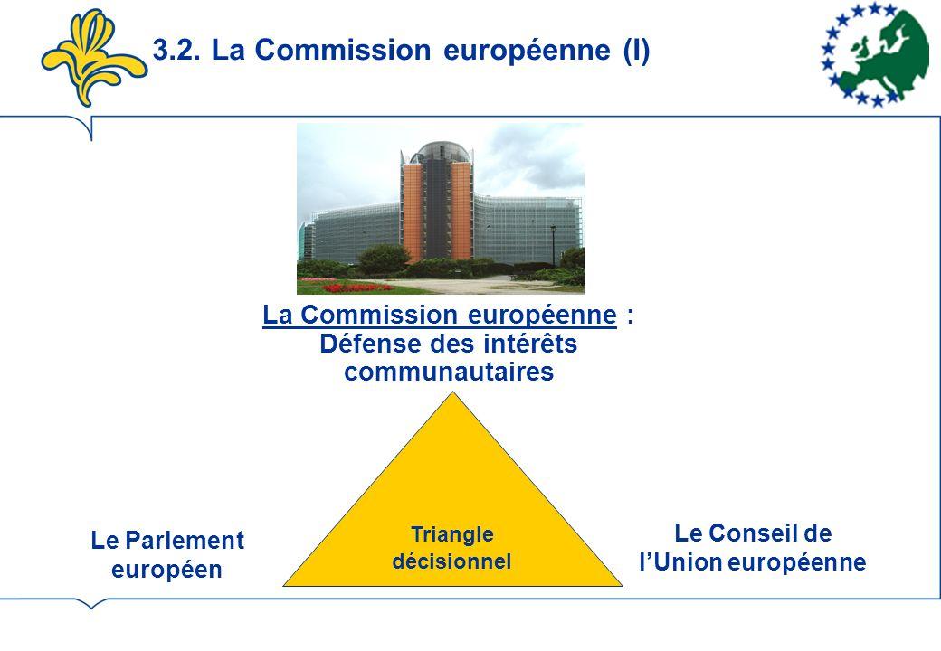 3.2. La Commission européenne (I)