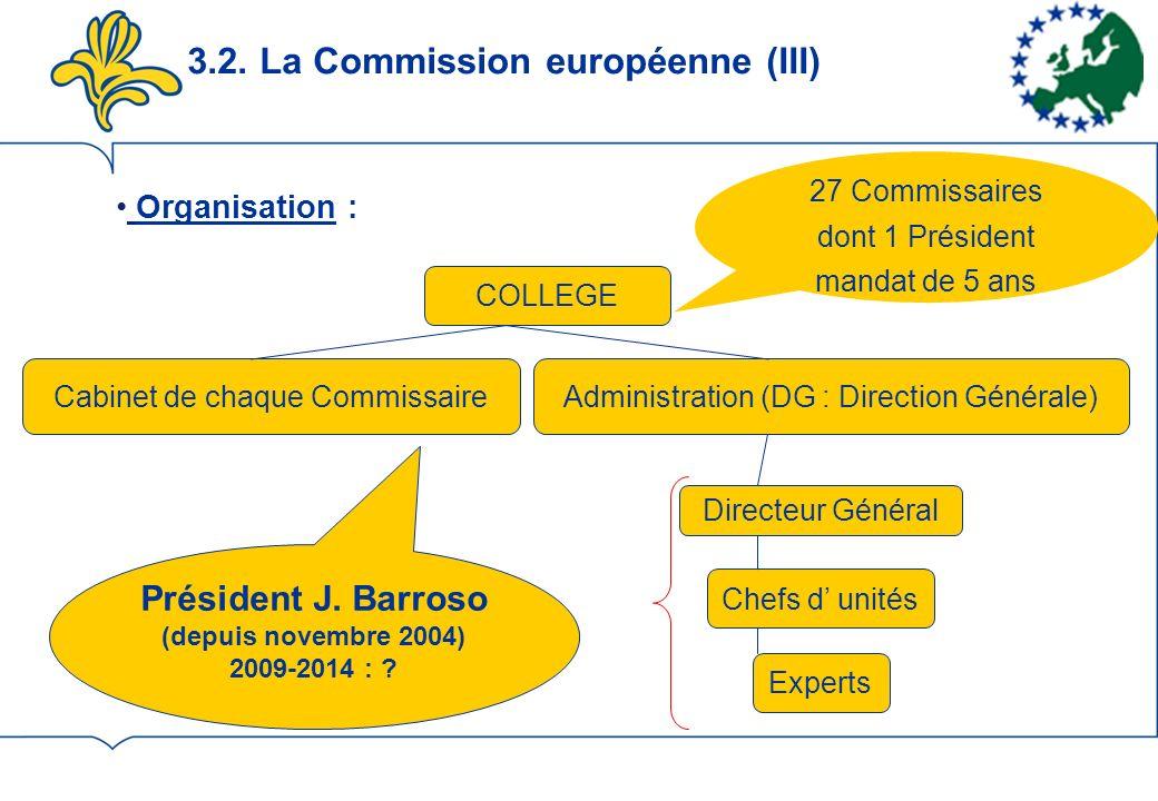 3.2. La Commission européenne (III)