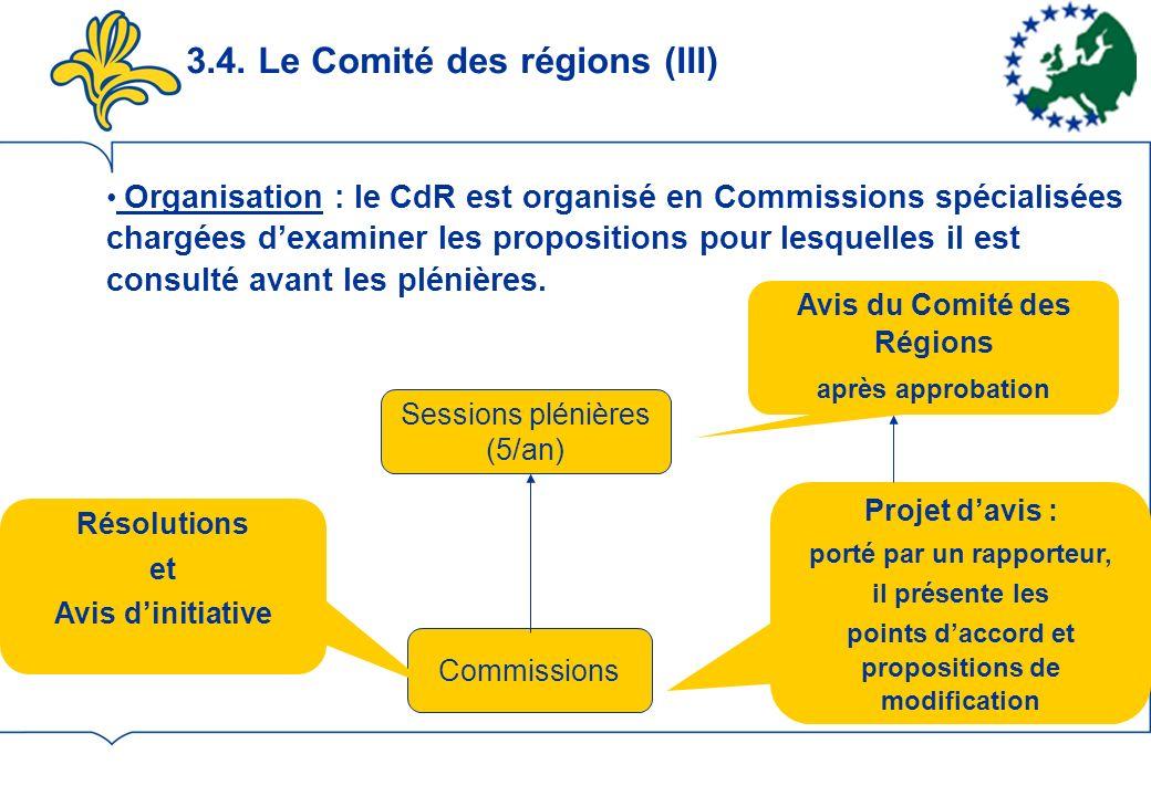 3.4. Le Comité des régions (III)
