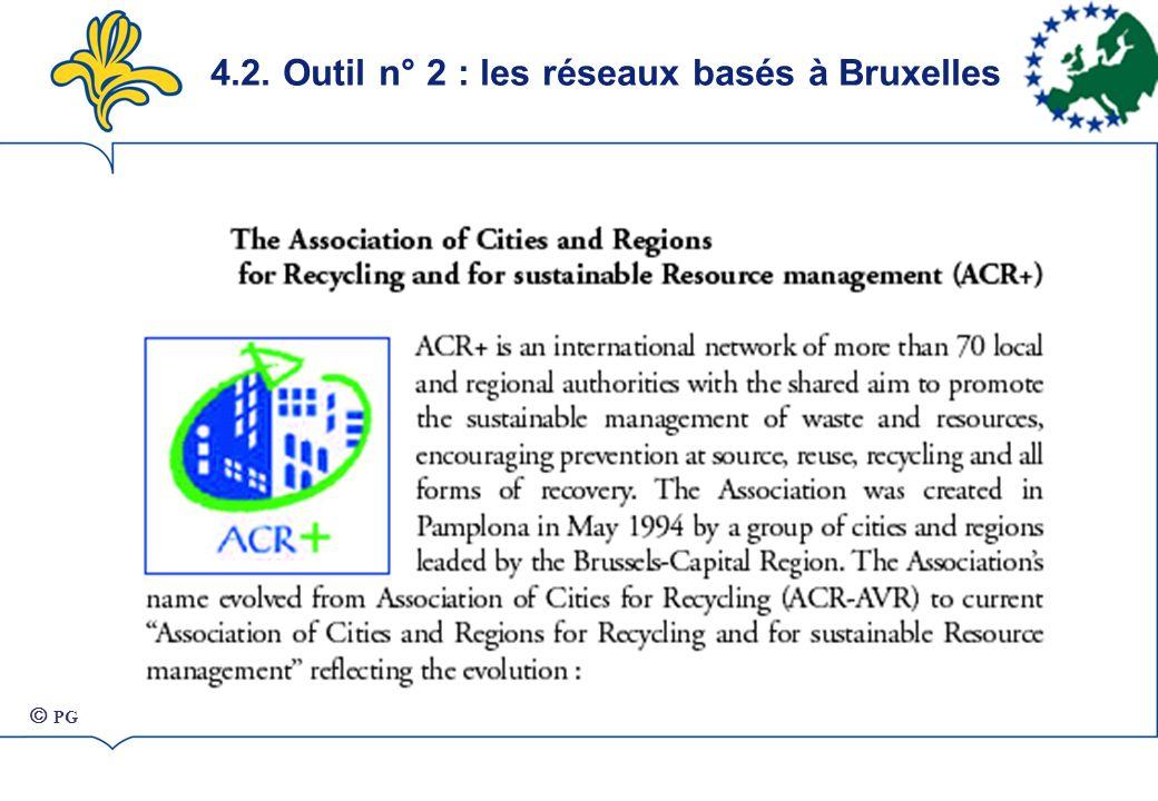 4.2. Outil n° 2 : les réseaux basés à Bruxelles