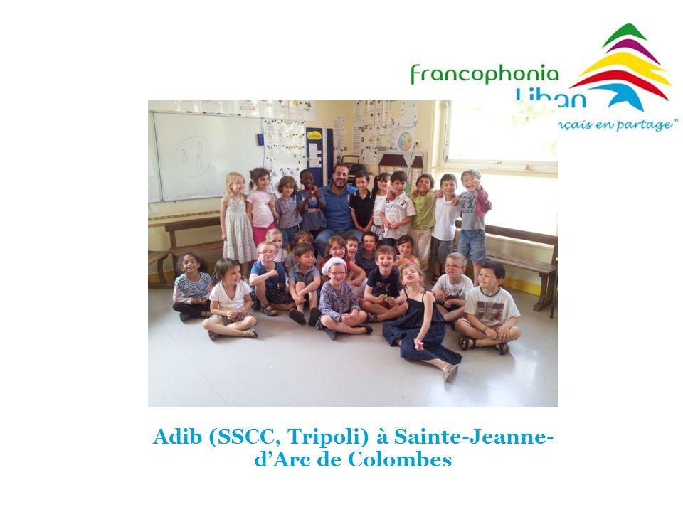 Adib (SSCC, Tripoli) à Sainte-Jeanne-d'Arc de Colombes