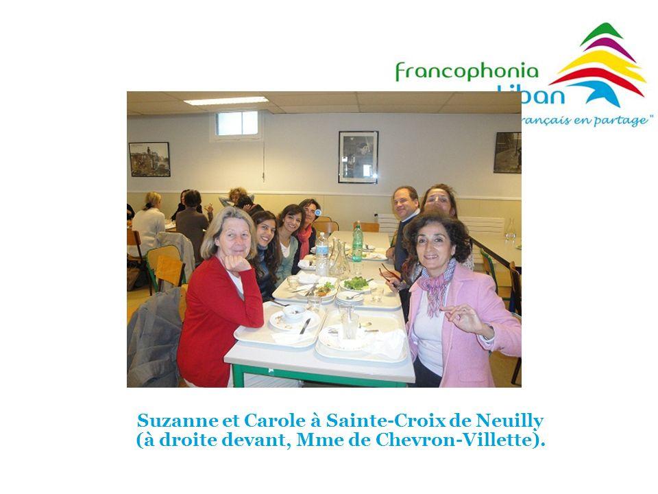 Suzanne et Carole à Sainte-Croix de Neuilly (à droite devant, Mme de Chevron-Villette).