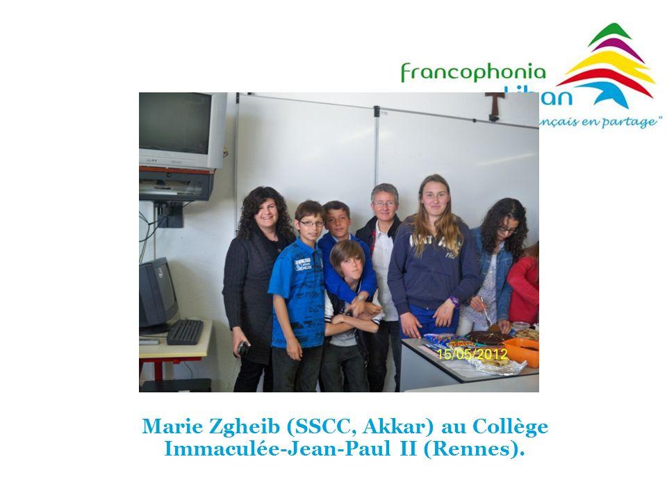 Marie Zgheib (SSCC, Akkar) au Collège Immaculée-Jean-Paul II (Rennes).