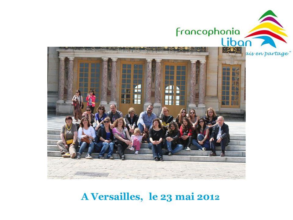 A Versailles, le 23 mai 2012