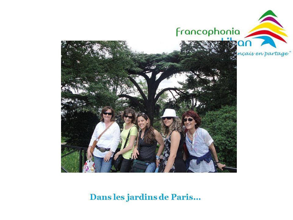 Dans les jardins de Paris…