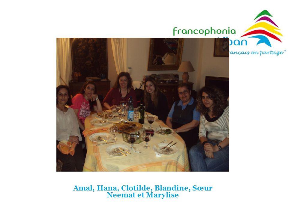 Amal, Hana, Clotilde, Blandine, Sœur Neemat et Marylise