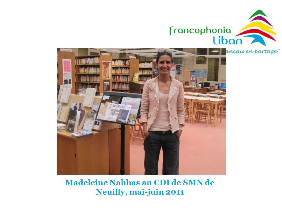 Madeleine Nahhas au CDI de SMN de Neuilly, mai-juin 2011