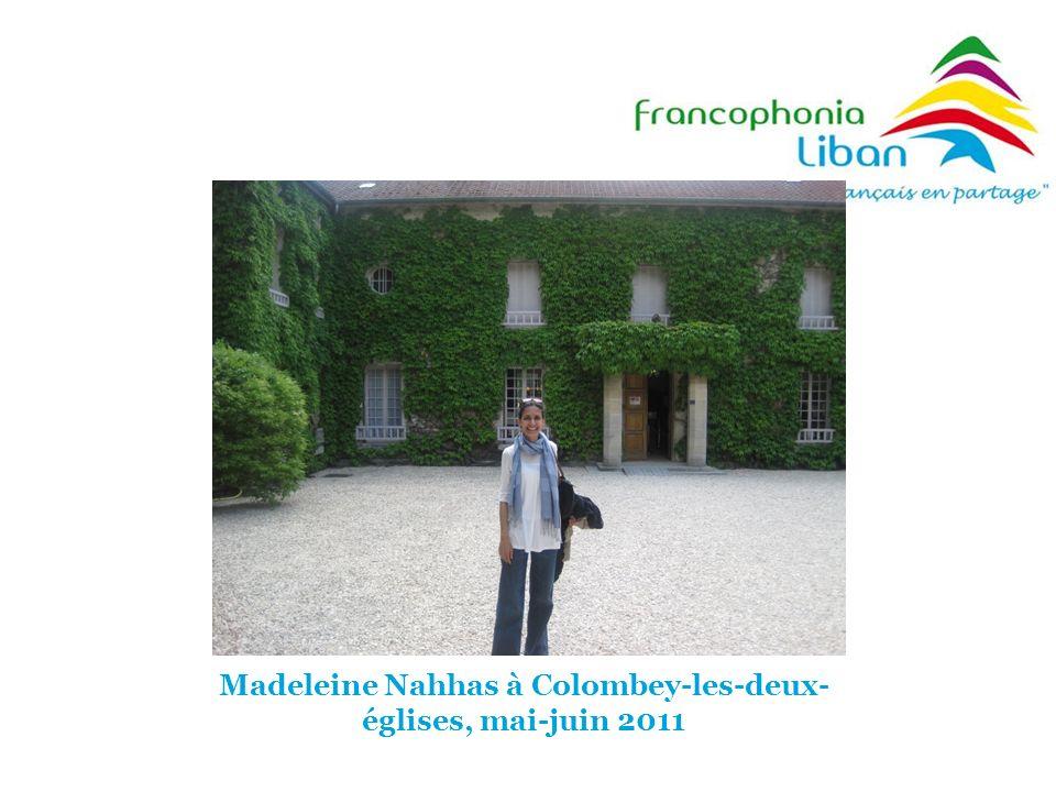 Madeleine Nahhas à Colombey-les-deux-églises, mai-juin 2011
