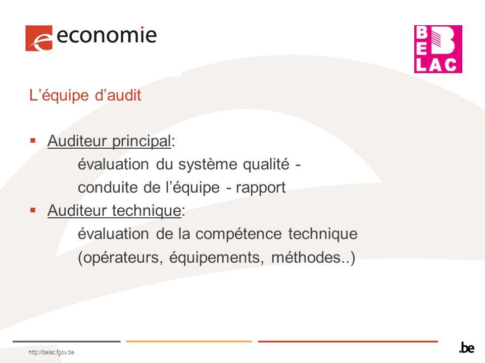 évaluation du système qualité - conduite de l'équipe - rapport