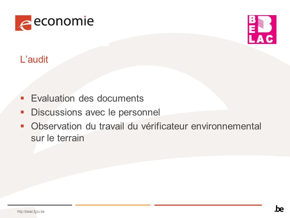 Evaluation des documents Discussions avec le personnel