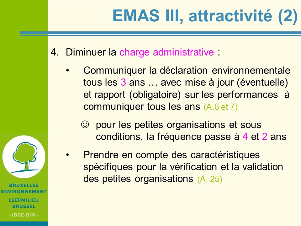 EMAS III, attractivité (2)