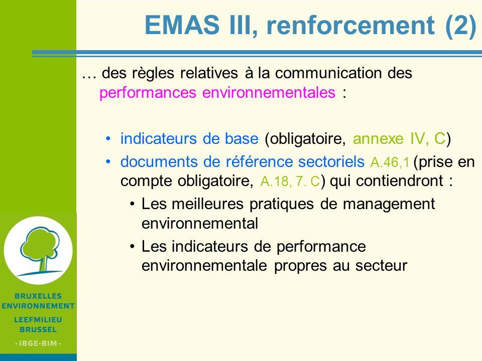 EMAS III, renforcement (2)