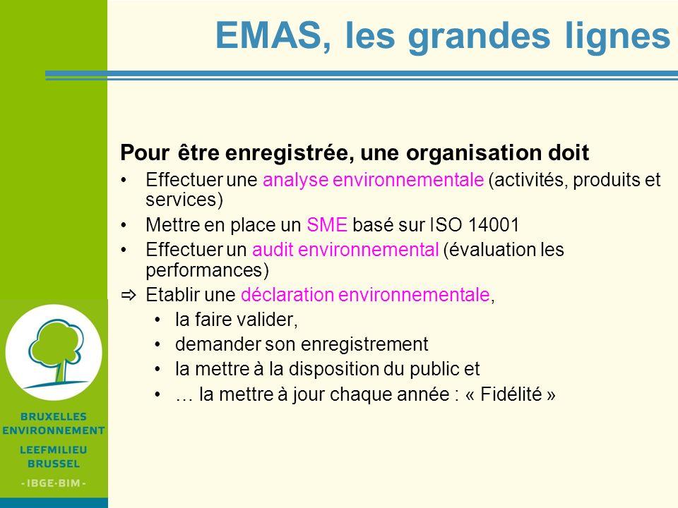 EMAS, les grandes lignes