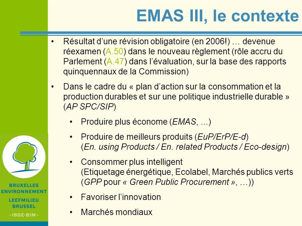EMAS III, le contexte