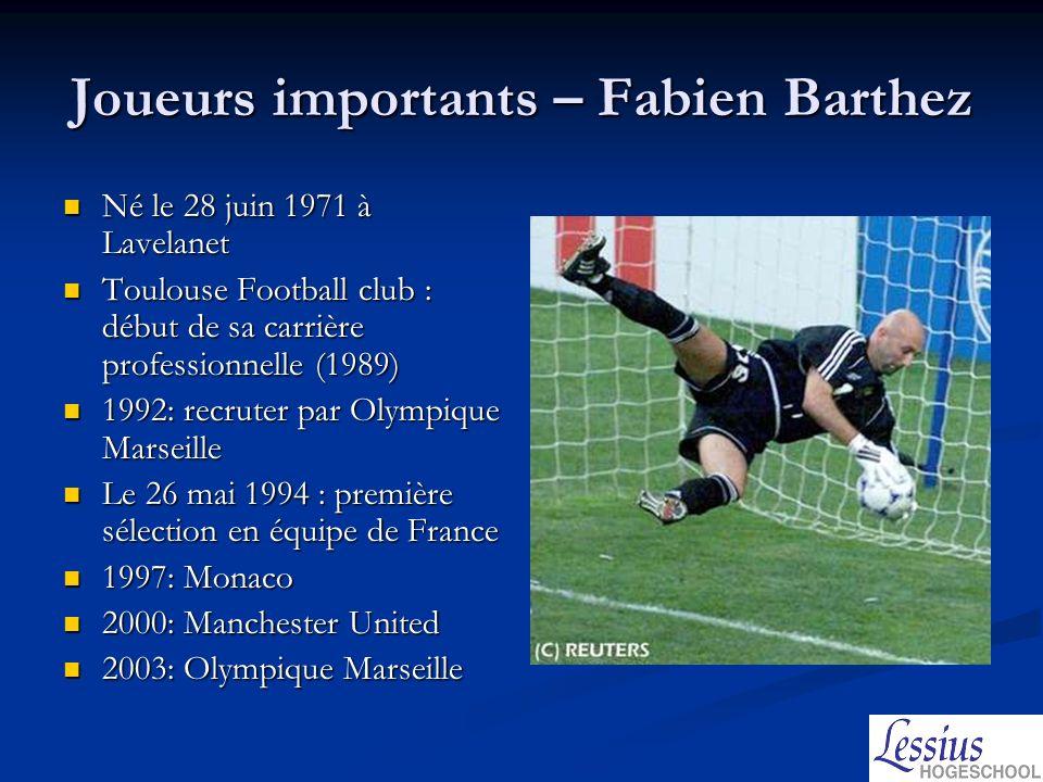 Joueurs importants – Fabien Barthez