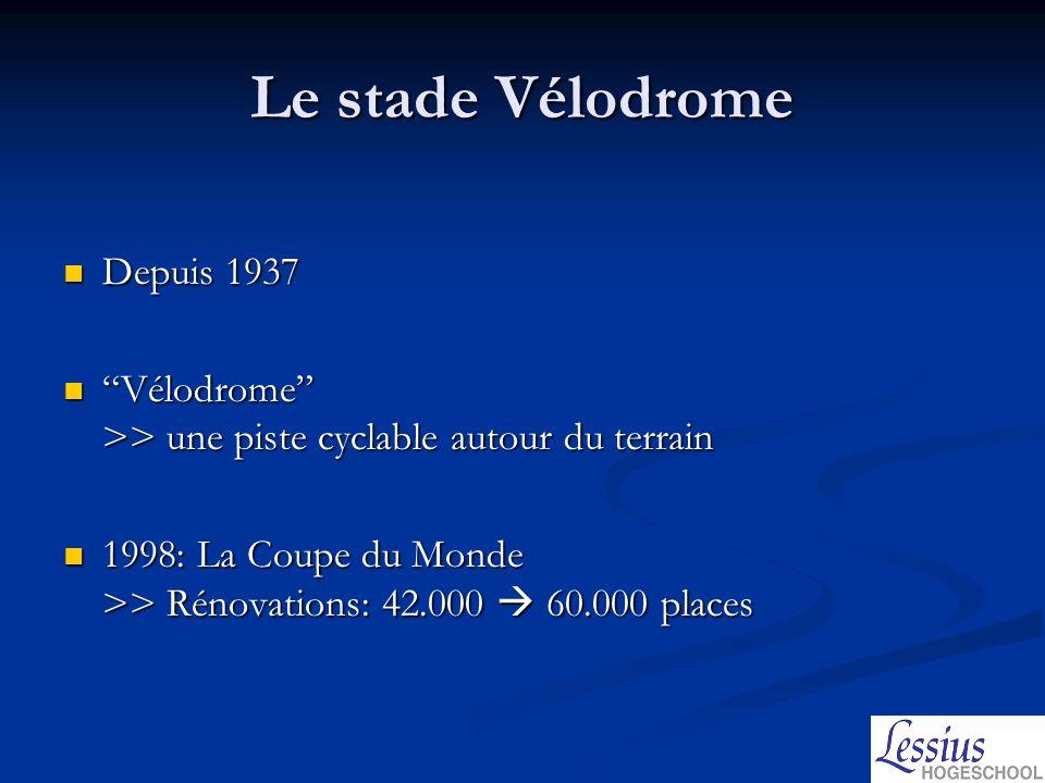 Le stade Vélodrome Depuis 1937