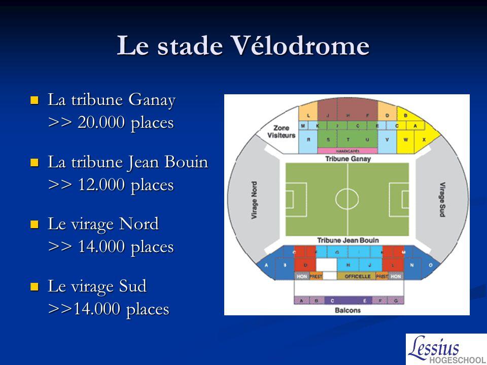 Le stade Vélodrome La tribune Ganay >> 20.000 places