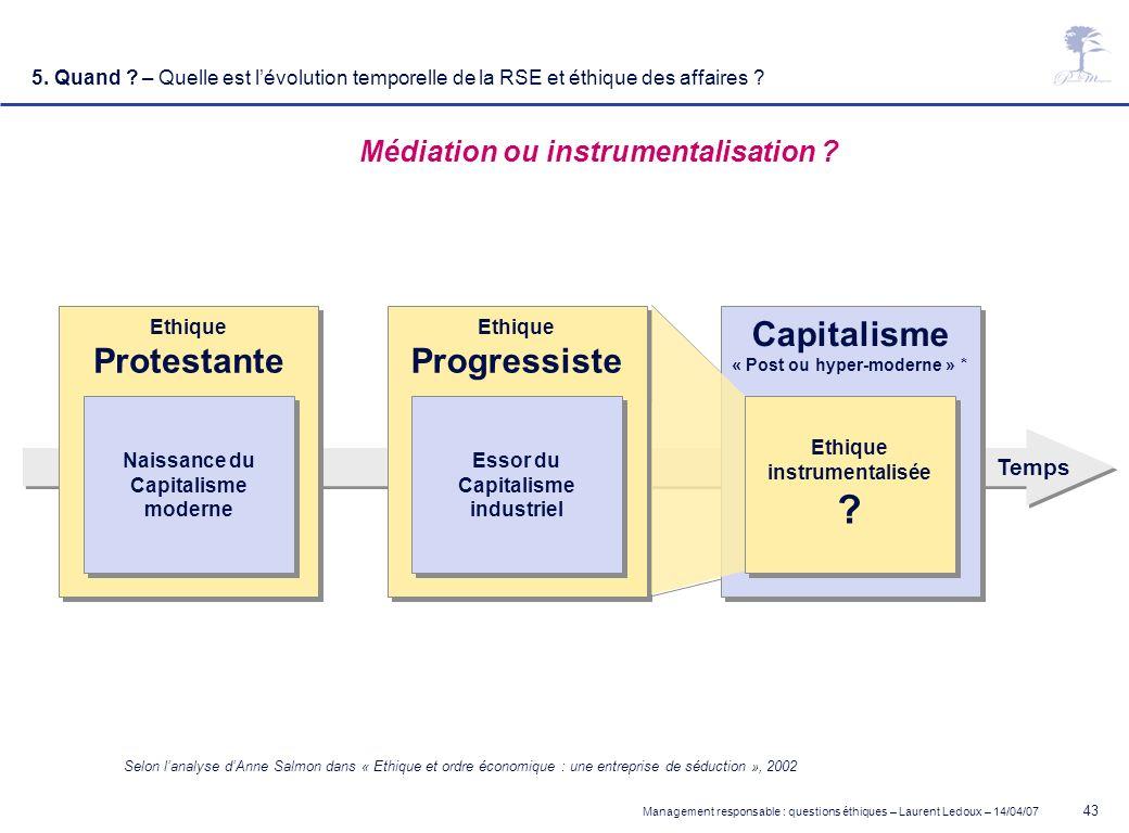Médiation ou instrumentalisation « Post ou hyper-moderne » *