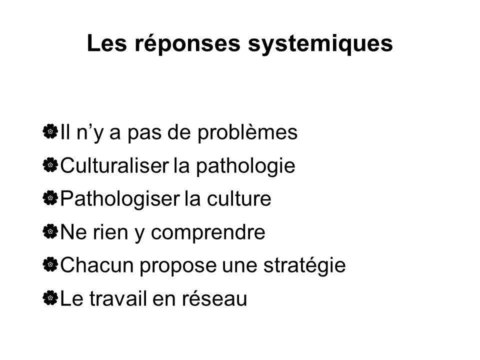 Les réponses systemiques