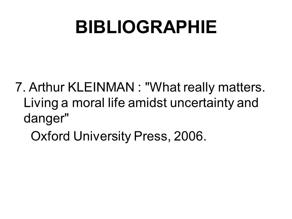 BIBLIOGRAPHIE Oxford University Press, 2006.