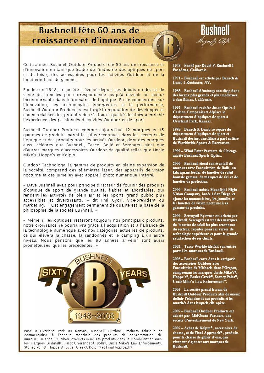 Bushnell fête 60 ans de croissance et d'innovation