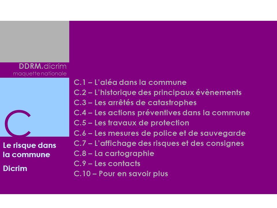 C DDRM.dicrim C.1 – L'aléa dans la commune
