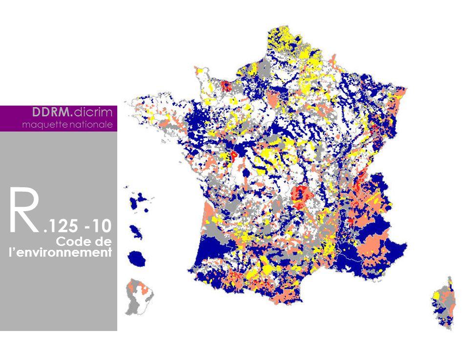 DDRM.dicrim maquette nationale R.125 -10 Code de l'environnement