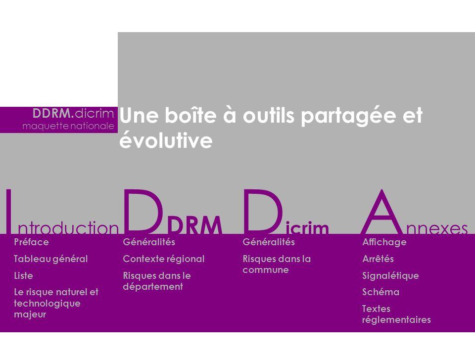 Introduction DDRM Dicrim Annexes