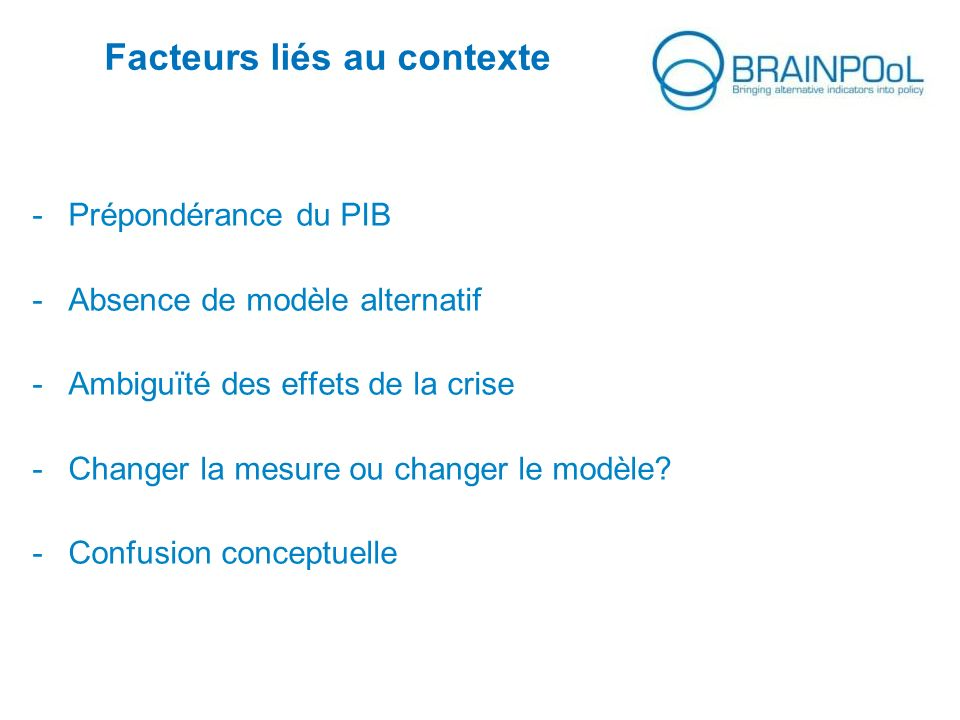 Facteurs liés au contexte