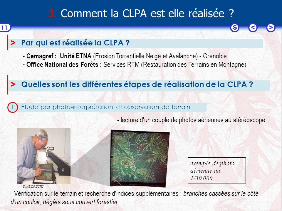 3. Comment la CLPA est elle réalisée
