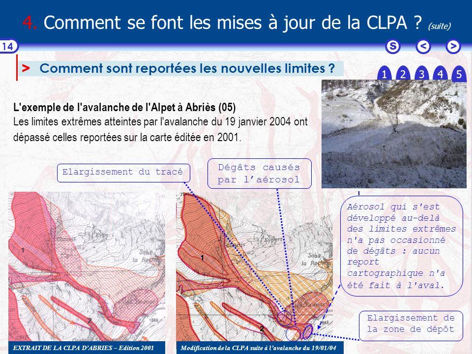 4. Comment se font les mises à jour de la CLPA (suite)