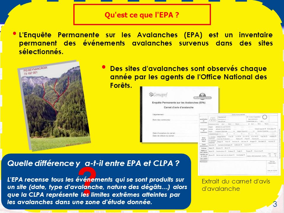 Quelle différence y a-t-il entre EPA et CLPA 3