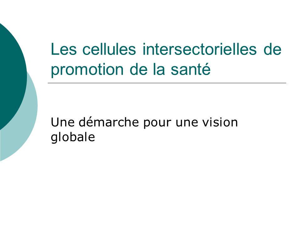 Les cellules intersectorielles de promotion de la santé