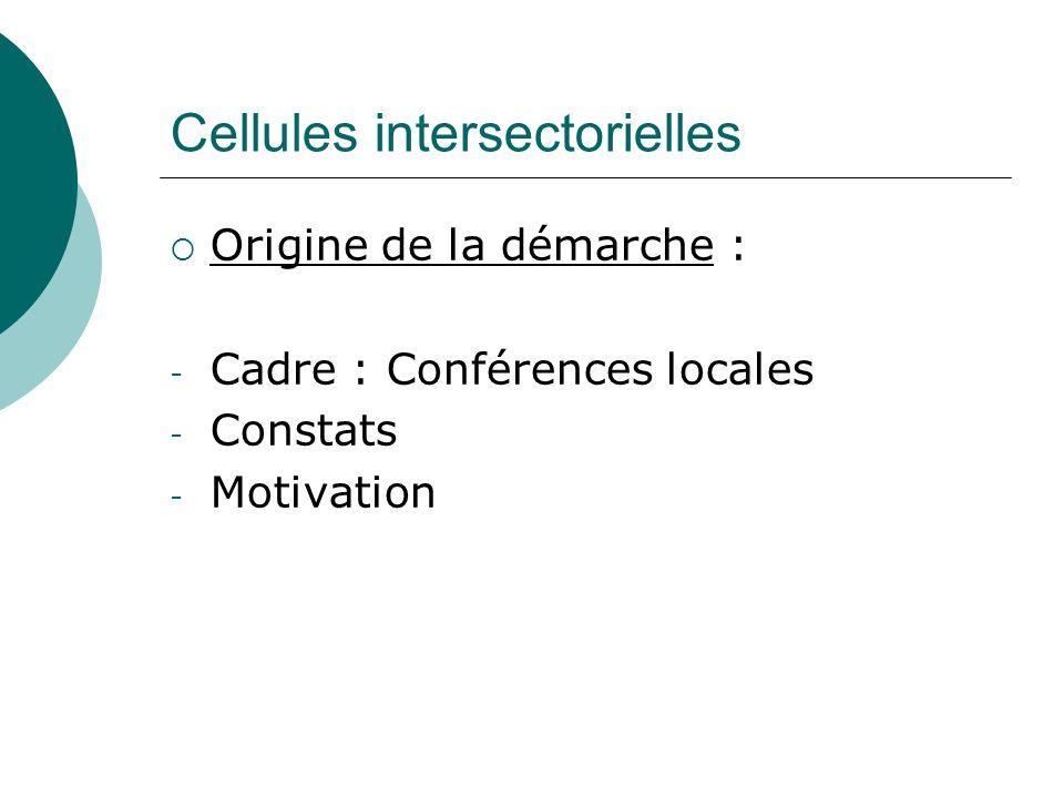 Cellules intersectorielles