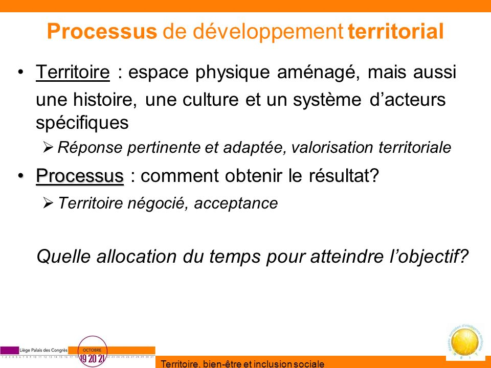 Processus de développement territorial
