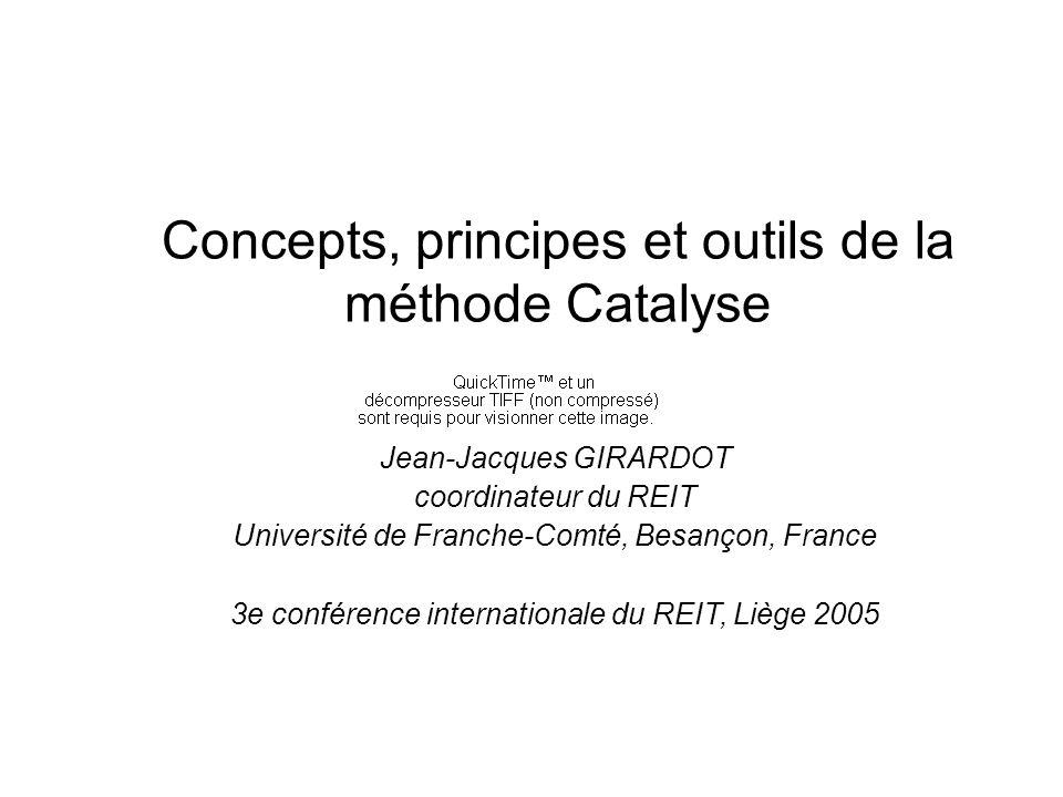 Concepts, principes et outils de la méthode Catalyse
