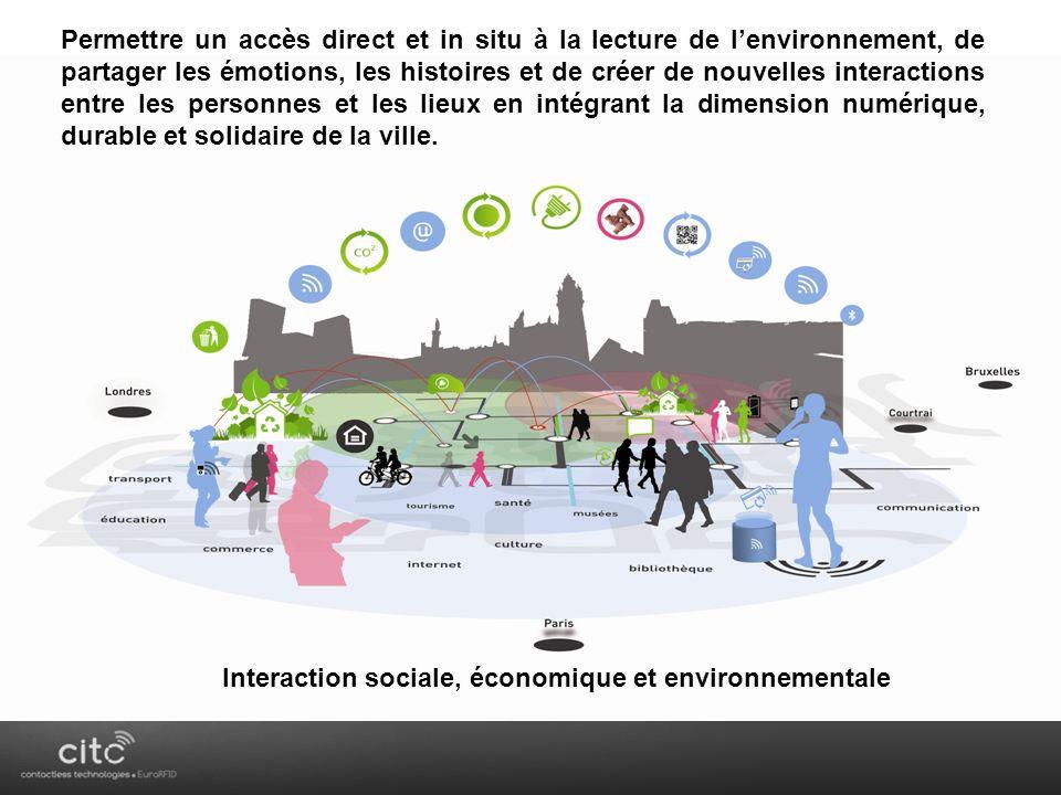 Interaction sociale, économique et environnementale