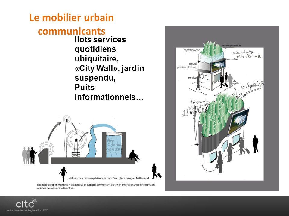 Le mobilier urbain communicants