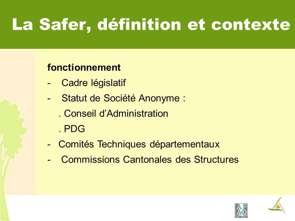 La Safer, définition et contexte