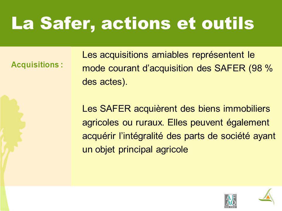 La Safer, actions et outils