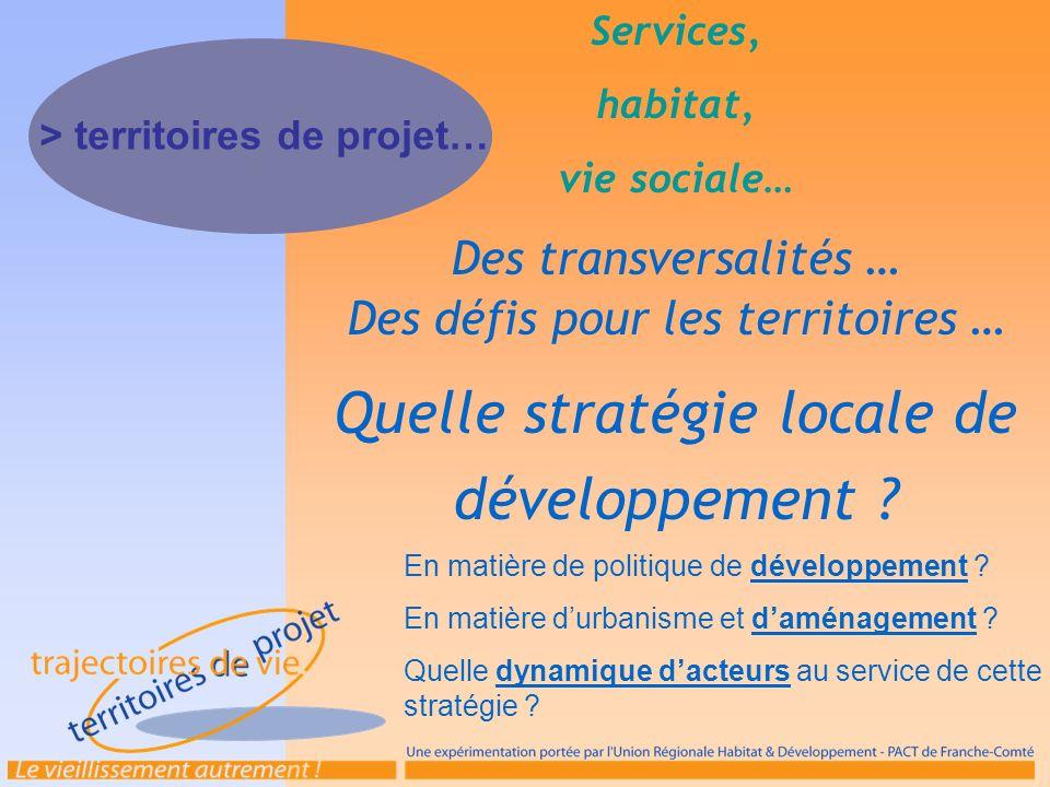 Quelle stratégie locale de développement