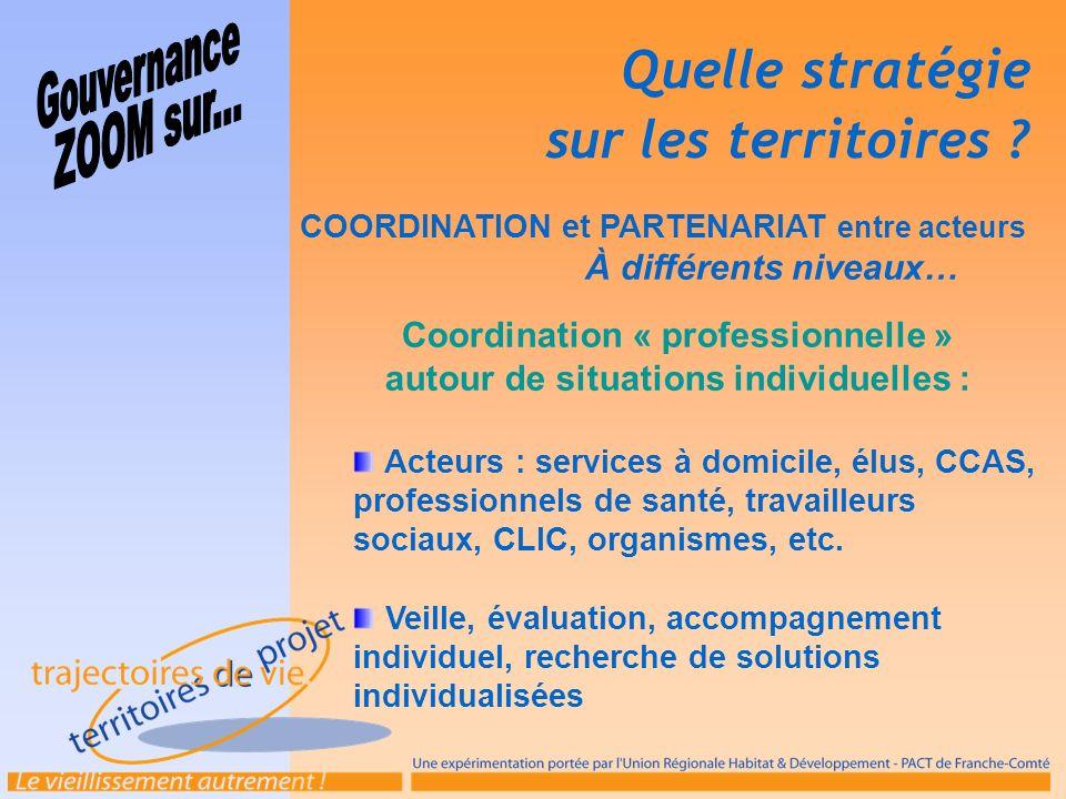 Coordination « professionnelle » autour de situations individuelles :