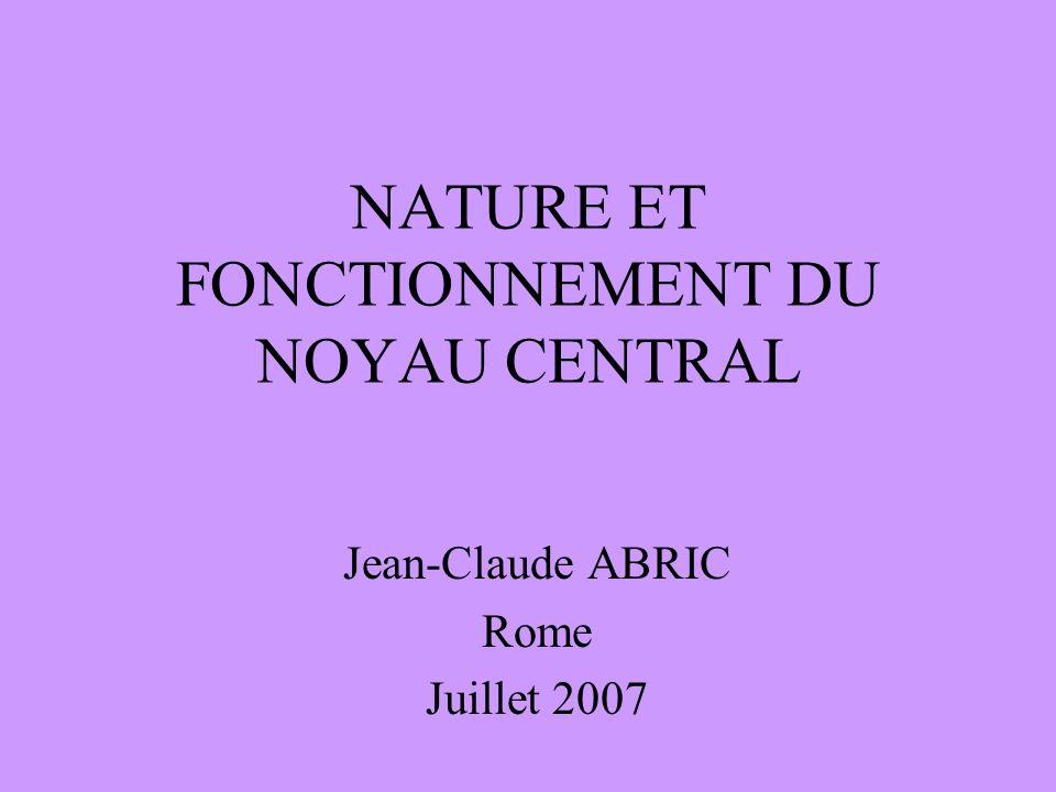 NATURE ET FONCTIONNEMENT DU NOYAU CENTRAL